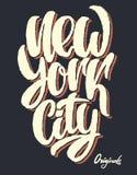 New York City, diseño de letras Diseño de la impresión de la camiseta Fotografía de archivo