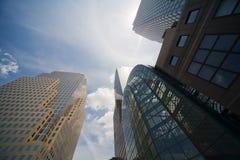 New York City downtown. New York City Skyscraper Manhattan Diminishing Perspective view Stock Image