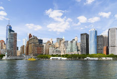 New York City Downtown. Downtown Manhattan with Battery Park in New York City Stock Photography