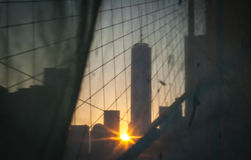 New York City - Downtown Manhattan Sunset View. The photo was taken in June, 2014 in New York City Stock Photos