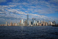 New York City downtown skyline with Freedom Tower as seen from Jersey City April 2017 Stock Image