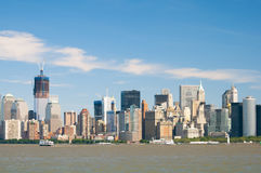 New York City Downtown Skyline Stock Photography