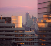 New York City downtown sunrise Stock Photo