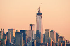 New York City downtown sunset Royalty Free Stock Photography