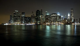 The New York City Downtown w the Freedom tower Stock Photo