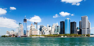 New York City Downtown w the Freedom tower Stock Photos