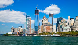 New York City Downtown w the Freedom tower Stock Image