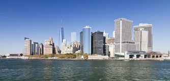 The New York City Downtown w the Freedom tower 2014 Stock Photo