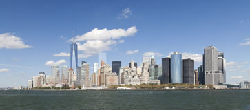 The New York City Downtown w the Freedom tower 2014 Royalty Free Stock Photo