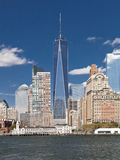 The New York City Downtown w the Freedom tower 2014 Royalty Free Stock Images