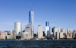 The New York City Downtown w the Freedom tower 2014 Stock Photos