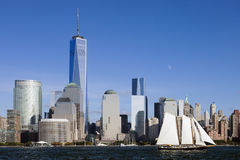The New York City Downtown w the Freedom tower 2014 Stock Image