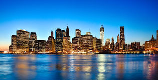 New York City Downtown w the Freedom tower Royalty Free Stock Photo