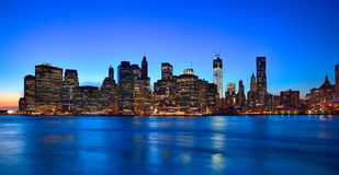 New York City Downtown w the Freedom tower Stock Images