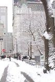 New York City durante a estação do inverno Imagem de Stock