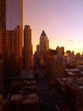 New York City At Dusk from the 22nd Floor Stock Image