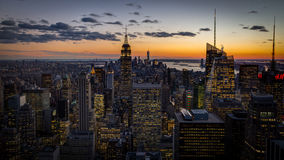 New york city dusk Royalty Free Stock Photography