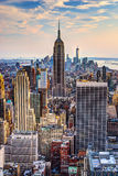 New York City at Dusk Royalty Free Stock Photo