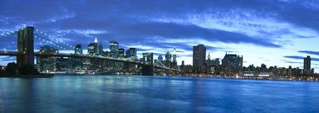 New York City e ponte di Brooklyn Fotografia Stock Libera da Diritti
