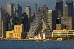 New York City e Rio Hudson foto de stock
