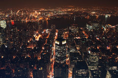 New york city east. New york city from empire state observatory, east Royalty Free Stock Images