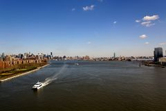 New York City East River Panorama Royalty Free Stock Photo