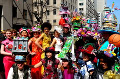 New York City: 2016 Easter Parade Participants Stock Image