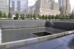 New York City, el 2 de agosto: Monumento del punto cero en Manhattan en New York City Imagen de archivo libre de regalías