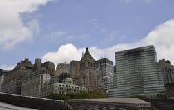 New York City, el 3 de agosto: Opinión de edificios históricos de Manhattan en Nueva York Fotos de archivo