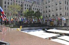 New York City, el 2 de agosto: Plaza de Rockefeller de Manhattan en New York City Foto de archivo