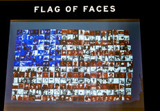New York City Ellis Island Flag of Faces Royalty Free Stock Photo