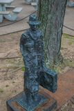 New York City Ellis Island Immigrant Statue imagens de stock royalty free