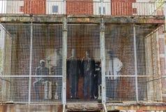 New York City Ellis Island Immigrants fotografia de stock