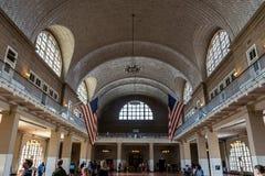 New York City Ellis Island Registry Hall Imagens de Stock