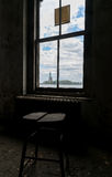New York City Ellis Island Room With a View of Statue of Liberty Royalty Free Stock Photography