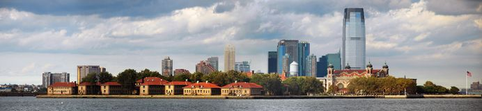 New York City Ellis Island Skyline Panorama Royalty Free Stock Image