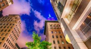 NEW YORK CITY - EM JUNHO DE 2013: Close up do Empire State Building em NYC Foto de Stock Royalty Free