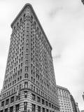 NEW YORK CITY - EM JUNHO DE 2013: Fachada da construção do ferro de passar roupa em Manhattan Foto de Stock Royalty Free