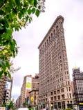 NEW YORK CITY - EM JUNHO DE 2013: Fachada da construção do ferro de passar roupa em Manhattan Imagem de Stock Royalty Free