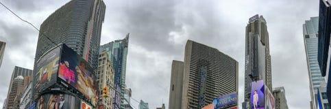 NEW YORK CITY - EM OUTUBRO DE 2015: Construções do Times Square New York a Fotos de Stock