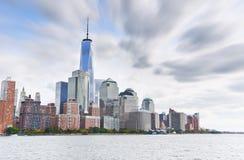 New York City em um dia nebuloso Fotos de Stock Royalty Free