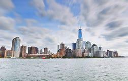 New York City em um dia nebuloso Imagem de Stock