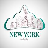 New york city emblem Royalty Free Stock Photo