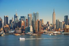 New York City with empire state building Stock Photography