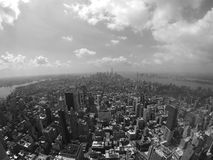 New York city. From empire state building in black and white stock images