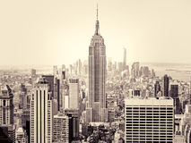 New York City with the Empire State Building on the foreground Royalty Free Stock Image