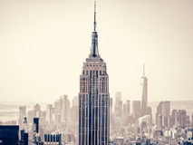 New York City with the Empire State Building on the foreground Royalty Free Stock Images