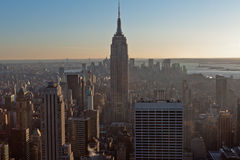 New York City and Empire State Building Stock Image