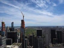 New York City en la construcción fotografía de archivo libre de regalías