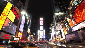 New York City en la noche almacen de video